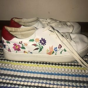Forever21 floral sneakers